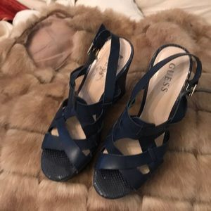 Guess navy wedges size 9.5